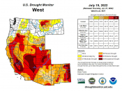 US Drought Monitor for West